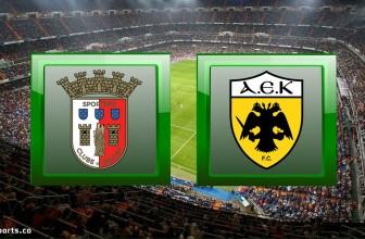 Braga vs AEK Athens – Prediction (Europa League – 22.10.2020)