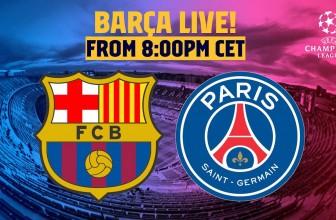 BARÇA LIVE | FC Barcelona – Paris Saint-Germain – The Champions League returns!
